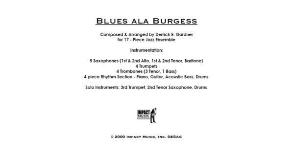 Blues ala Burgess***