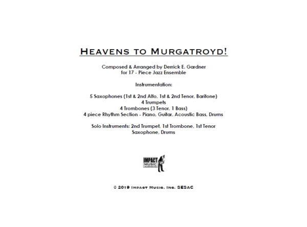 Heavens to Murgatroyd!***