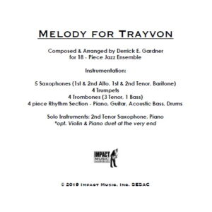 Melody for Trayvon**